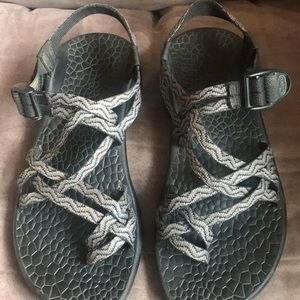 Black and Grey Chaco Sandals